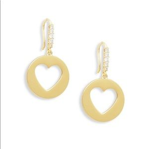 kate spade heart drop earring